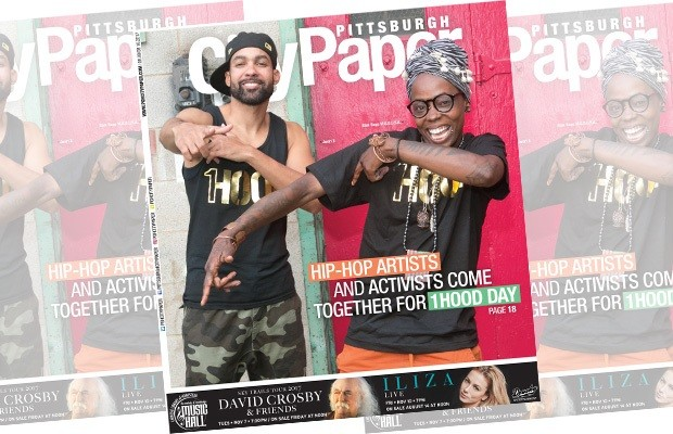 Blak Rapp Madusa, (right) on the cover of the Aug. 9, 2017 issue of City Paper