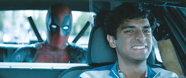 Ryan Reynolds and Karan Soni in Deadpool 2