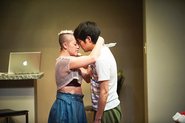 Katie Lynn Esswein and Christopher Larkin in Nomad Motel -  - PHOTO COURTESY OF KRISTI JAN HOOVER