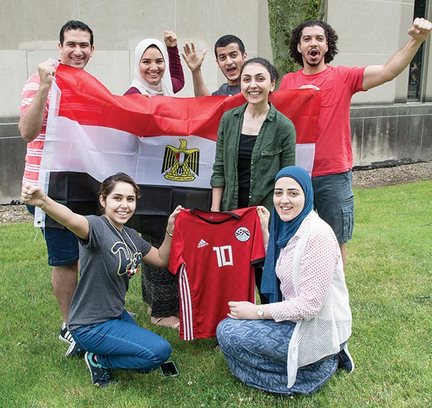 Members of the University of Pittsburgh's Egyptian Student Association - CP PHOTO BY SARAH WILSON