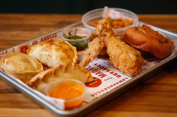 Fried chicken and empanadas - CP PHOTO BY JARED WICKERHAM