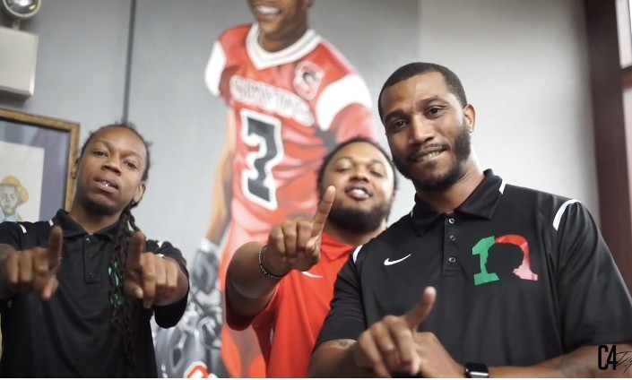 Co-founders of 1Nation Mentoring, left to right: Kevin McNair, Lloyd Cheatom, Sam Morant - PHOTOS COURTESY OF 1NATION