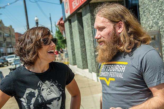 Gab Bonesso talks comedy with Aaron Tarnow - CP PHOTO BY SARAH WILSON