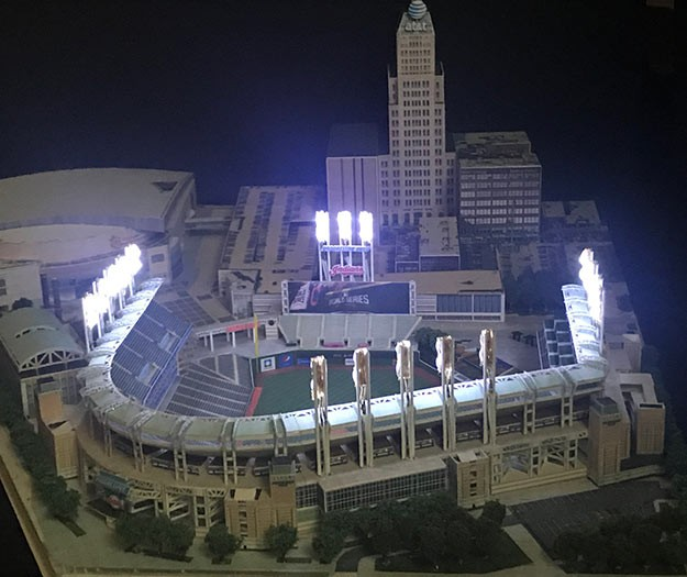 David Resnik's Progressive Field model - PHOTO COURTESY OF DAVID RESNIK