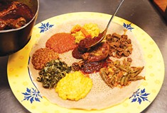 Bring some gum, a wet wipe, and an empty stomach to Tana Ethiopian Cuisine in East Liberty