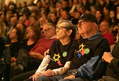 Jewish Federation of Greater Pittsburgh holds community solidarity gathering in Squirrel Hill to show support for victims of California synagogue shooting