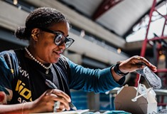 Tereneh Idia combines fashion and flying as Pittsburgh International Airport artist-in-residence