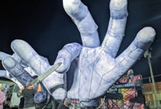 The 'horrifying and comic' <i>Hand to Hand</i> features steampunks, jam-band prog, and two 600-pound animatronic hands