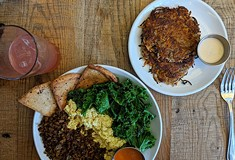 Vegan restaurant melds Mediterranean and American influences that celebrate health, heritage, and comfort foods