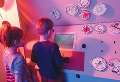A Children's Museum exhibit teaches kids about the Cold War