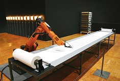 At Wood Street, robots draw a Martian landscape and copy the Bible