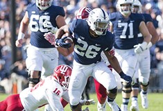Penn State running back Saquon Barkley is loaded with talent but saddled with history