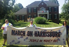 Six arrested protesting for redistricting reform at state Speaker Mike Turzai's home in Marshall