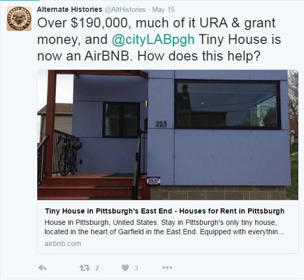 Pittsburgh's tiny house keeps popping up on Airbnb, could be