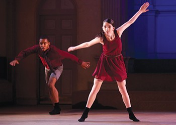 Modern-day tap star Michelle Dorrance's company performs