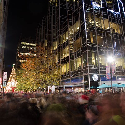Light Up Night in Downtown Pittsburgh