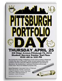 Pittsburgh portfolio day poster - Uploaded by Taya johnson
