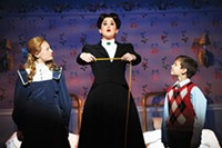 PHOTO COURTESY OF MATT POLK - From left: Clare Chiusano, Lindsey Bliven and Mario Williams in Mary Poppins, at Pittburgh CLO