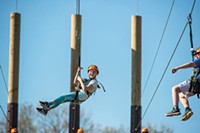 PHOTO COURTESY OF PAUL A. SELVAGGIO - Zipline at the Pittsburgh Zoo