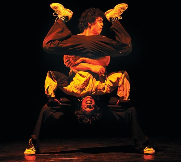 Upside down and right-side up: Compagnie Käfig incorporates Brazilian street dancers.
