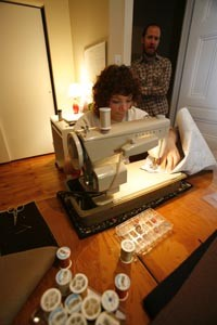 Vaccariello stitches up a Ray-Min creation - HEATHER MULL
