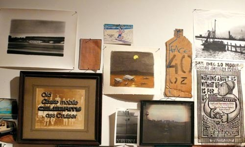 Vagabonding: Artwork and memorabilia in Bill Daniel's The Great Depression.