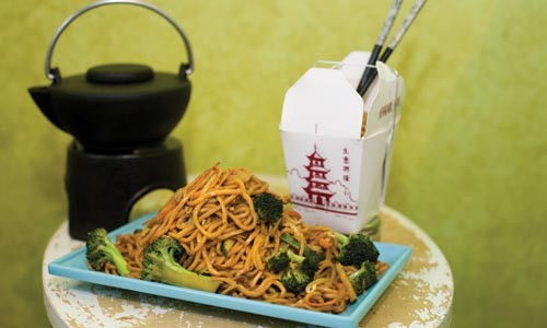 Vegetable lo mein - HEATHER MULL