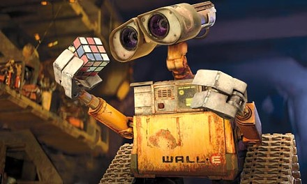 WALL*E, examining one of his treasured artifacts