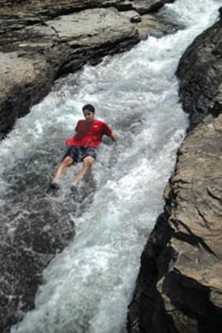 Wet and wild at Meadow Run slides - PHOTO: AL HOFF