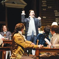 When in the course: George Merrick (as John Adams) in the Public's <i>1776</i>.
