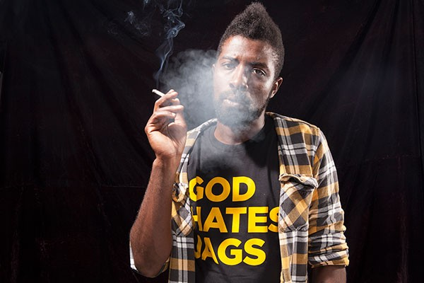 Where there's smoke: Davon Magwood fires it up.