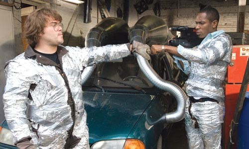 Who ya gonna call? Jack Black and Mos Def bust some ghosts on the cheap.