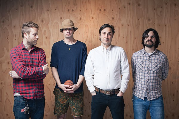 Who's getting emotional? Owls (Tim Kinsella, third from left)