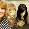 Wig stylist Sandy Cridge helps the hairless.