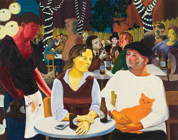 """Willfully discarding dominant styles: Nicole Eisenman's""""Beer Garden With Ulrike and Celeste"""" (2009), Hall Collection"""
