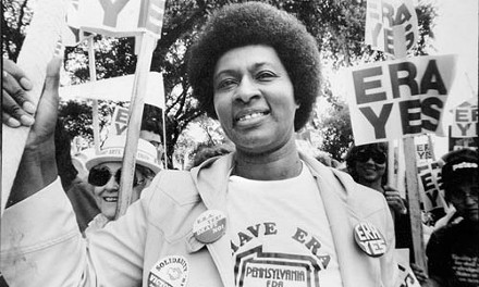 Women's movement: Brenda Frazier marches for the Equal Rights Amendment. - FROM THE COLLECTION OF BRENDA FRAZIER.
