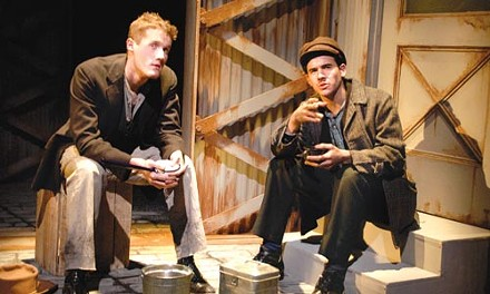 Word ply: Chase Newell and Nicholas Ducassi in Speak American, at City Theatre. - PHOTO BY SUELLEN FITZSIMMONS.