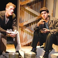 Word ply: Chase Newell and Nicholas Ducassi in <i>Speak American</i>, at City Theatre.