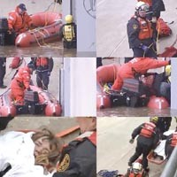 WPXI offered some of the most compelling pictures from the rescue of Rebecca Hare. They also called her a man.
