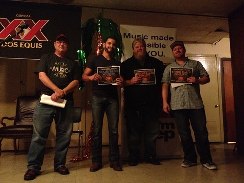 WYEPs Bruce Mountjoy, left, with winners, from left to right: Zach Austin Longoria, Jay Stenger, Jordan Auth