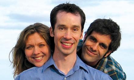 YERT-itude: from left, Julie Dingman Evans, Mark Dixon and Ben Evans. Photo courtesy of Gregg Dixon.