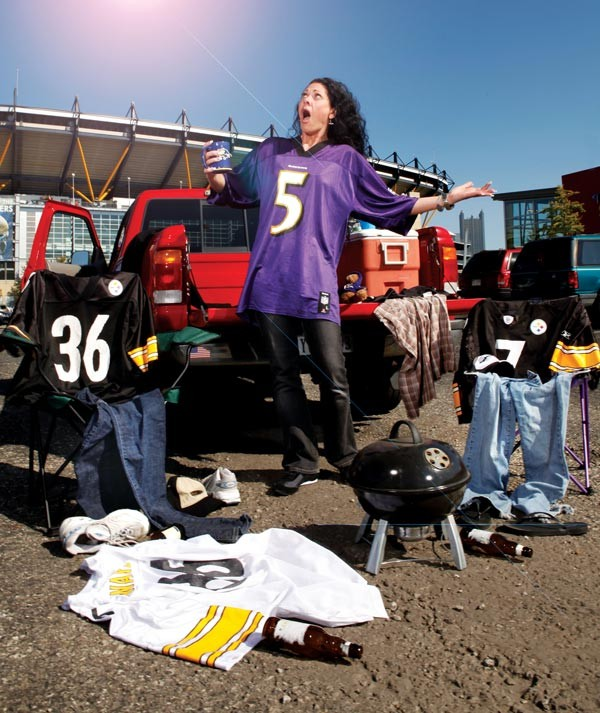 Yes, the Ravens will have an easier time in the AFC North once Pittsburgh has ascended. But what is Heaven, if not a place without Baltimore fans? - PHOTO BY HEATHER MULL