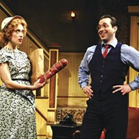 Yes, very nice, but where are the jokes? Marina Squerciati and Brian Sgambati in City Theatre's <i>Louder, Faster</i>.
