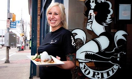 Yo, eel! Summer Voelker dishes up this fish taco. - JOHN ALTDORFER