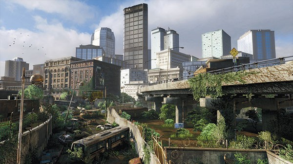 You thought your commute was rough: Pittsburgh, as depicted in The Last of Us video game.