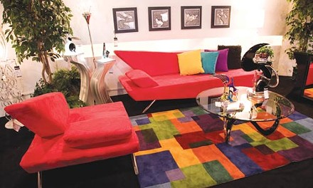 Your next living room, in red suede - BRIAN KALDORF