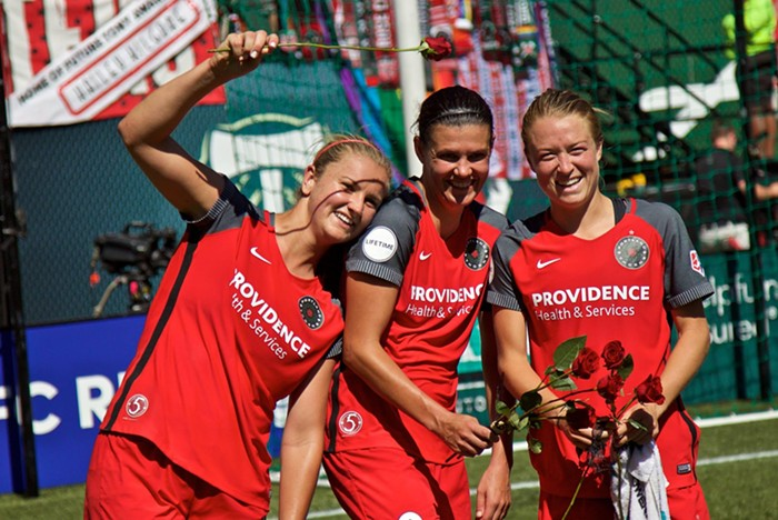 Horan, Sinclair and Sonnett – relishing in their accomplishments.
