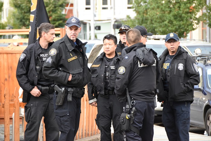 Officers from the Portland Police Bureau and federal Department of Homeland Security plan the arrests