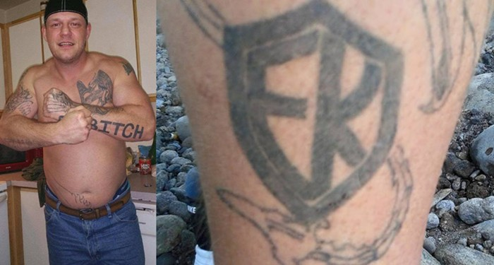 Russell Courtier and his European Kindred tattoo