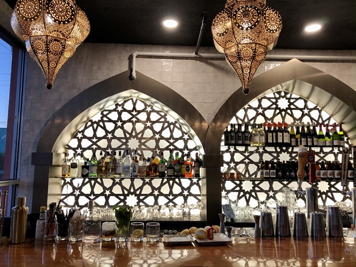 Nicholas' gorgeous new bar greets visitors upon arrival